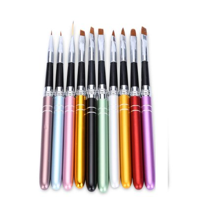 10pcs Nail Design Brush Manicure for Painting Brushes