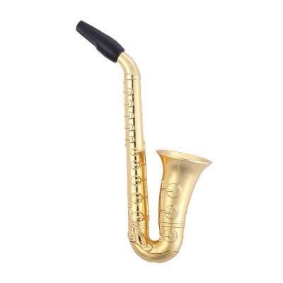 Fashion Saxophone Style Herb Pipe Holder