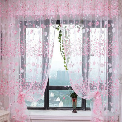 100 x 270cm Chiffon Gauze Sheer Window Curtain