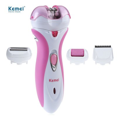 Kemei KM - 2531 Pro Rechargeable Epilator Shaver Hair Clipper Defeatherer