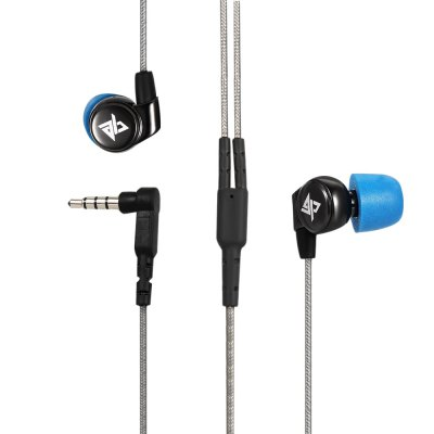 AuGlamour R1S 3.5MM Plug Stereo HiFi Music Earphones Headphones