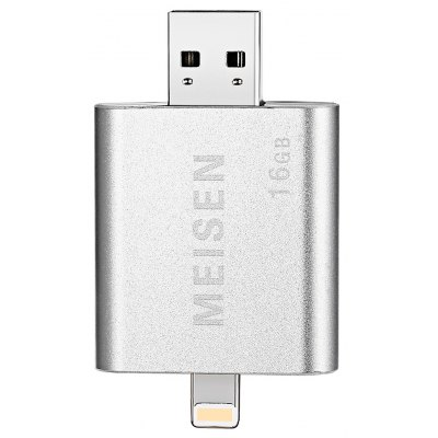 MEISEN IQ 2 in 1 OTG 8 Pin USB 2.0 Flash Drive