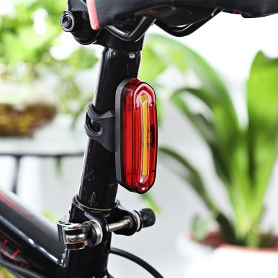 Rechargeable Bicycle Dual Color Flashlight Tail Light
