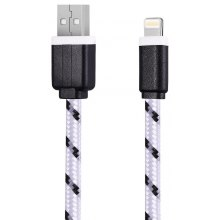 1M Nylon Braided 8 Pin Sync Data Cable