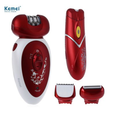 Kemei KM - 3048 Rechargeable Electric Epilator Hair Clipper Shaver Defeatherer