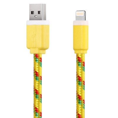 3M Nylon Braided 8 Pin Sync Data Cable