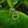 Geometric Shape Gold Plated Copper Party Birthday Stud Earrings photo
