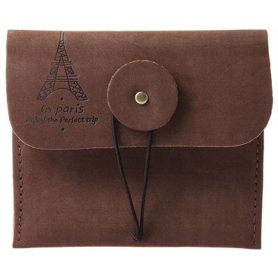 Unisex Old Classical Letter Tower Embellished Coin Purse