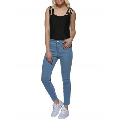 Mid Waist Skinny Women Denim Pants