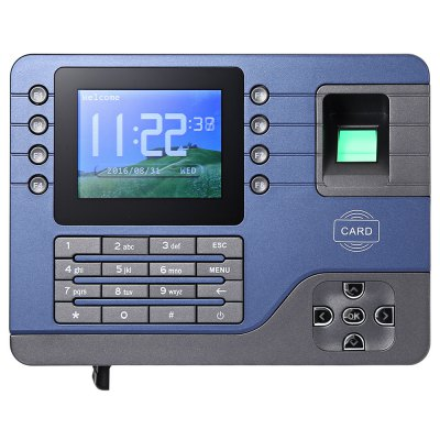 Realand  A - C091 Biometric Fingerprint Time Attendance ClockOffice Electronics<br>Realand  A - C091 Biometric Fingerprint Time Attendance Clock<br><br>Product weight: 0.457 kg<br>Package weight: 0.866 kg<br>Product Size(L x W x H): 19.00 x 14.00 x 3.50 cm / 7.48 x 5.51 x 1.38 inches<br>Package Size(L x W x H): 27.50 x 19.50 x 10.00 cm / 10.83 x 7.68 x 3.94 inches<br>Package Contents: 1 x Realand A - C091 Biometric Fingerprint Time Attendance Clock, 1 x Power Adapter, 1 x USB Cable, 1 x Siding, 1 x CD Driver, 4 x Screw, 4 x Expansion Tube
