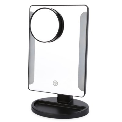 36 LED USB Power Portable Folding Mirror with Magnifier