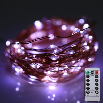 10M 100 LEDs  a batteria   rame string luce