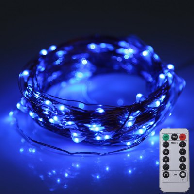 10M 100 LEDs Battery Operated Copper String Light