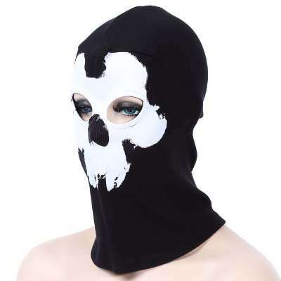 Ghost Skull Neck Hood Full Face Mask