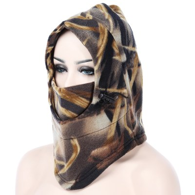 Thermal Camouflage Thickened Fleece Windproof Face Mask
