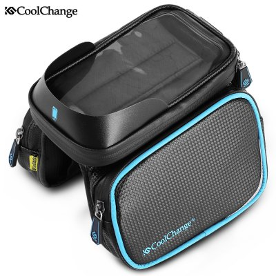 CoolChange 6 inch Bicycle Screen Touch Front Tube Bag