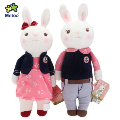 2pcs Metoo Tiramitu Lover Rabbit Plush Doll Toy Christmas Gift