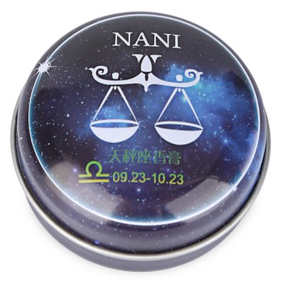 NANI 1pc Unisex Magic 12 Constellation Zodiac Solid PerfumeNANI 1pc Unisex Magic 12 Constellation Zodiac Solid Perfume<br><br>Gender: Female<br>Net weight(g/ml): 20<br>Item Type: Perfume<br>Product weight: 0.023 kg<br>Package weight: 0.038 kg<br>Product size (L x W x H): 5.50 x 2.50 x 2.50 cm / 2.17 x 0.98 x 0.98 inches<br>Package size (L x W x H): 6.00 x 6.00 x 2.50 cm / 2.36 x 2.36 x 0.98 inches<br>Package Content: 1 x Bottle of Solid Perfume