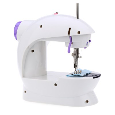 Mini Double Speed Automatic Thread Sewing Machine with Light