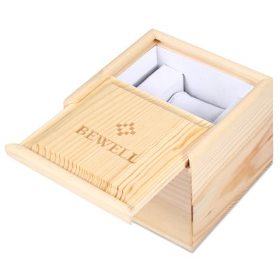 BEWELL Pine Wooden Watch BoxWatch Accessories<br>BEWELL Pine Wooden Watch Box<br><br>Material: Wooden<br>Product weight: 0.190 kg<br>Package weight: 0.212 kg<br>Product Size(L x W x H): 10.00 x 10.00 x 8.00 cm / 3.94 x 3.94 x 3.15 inches<br>Package Size(L x W x H): 11.00 x 11.00 x 9.00 cm / 4.33 x 4.33 x 3.54 inches<br>Package Contents: 1 x BEWELL Wooden Watch Case