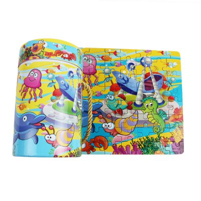 80pcs Kids Bright Colored Cartoon Matching Jigsaw