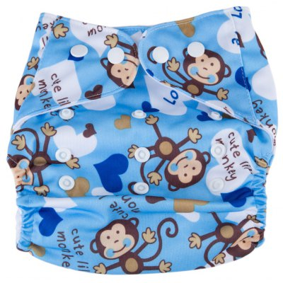 Water Resistant Washable Breathable Elastic Print Cloth Diaper