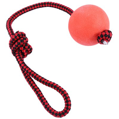 Solid Rubber Pet Puppy Dog Chew Training Ball Toy