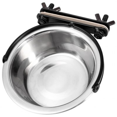 Stainless Steel Hanging Pet Animal Food Bowl Coop Cup