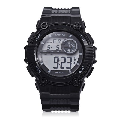DIRAY DR - 203 Children Digital Sport WatchKids Watches<br>DIRAY DR - 203 Children Digital Sport Watch<br><br>Band Length: 7.75 inch<br>Band Material Type: PU<br>Band Width: 16mm<br>Case material: Plastic<br>Case Shape: Round<br>Clasp type: Pin Buckle<br>Dial Diameter: 1.5 inch<br>Dial Display: Digital<br>Dial Window Material Type: Plastic<br>Feature: Alarm,Auto Date,Back Light,Chronograph,Day<br>Gender: Children<br>Movement: Digital<br>Style: Sport<br>Water Resistance Depth: 50m<br>Product weight: 0.031 kg<br>Package weight: 0.109 kg<br>Product Size(L x W x H): 23.50 x 4.00 x 1.00 cm / 9.25 x 1.57 x 0.39 inches<br>Package Size(L x W x H): 8.00 x 8.00 x 8.00 cm / 3.15 x 3.15 x 3.15 inches<br>Package Contents: 1 x DIRAY DR - 203 Children Digital Watch