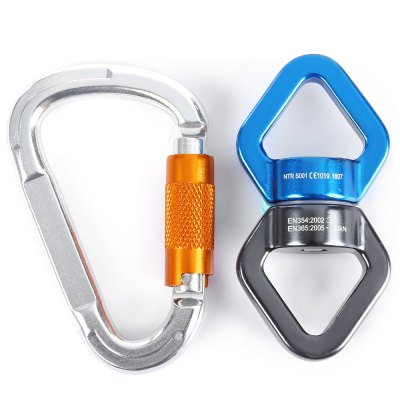 Outdoor Survival Swivel Connector D-shaped Carabiner