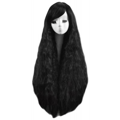 Girl Long Curly Black Wigs Shaggy Perm Hairstyle Synthetic Hair