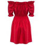 cheap Trendy Off The Shoulder Pleated A-line Women Dress