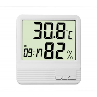 Digital Electronic Thermometer Hygrometer Clock Weather Station Indoor