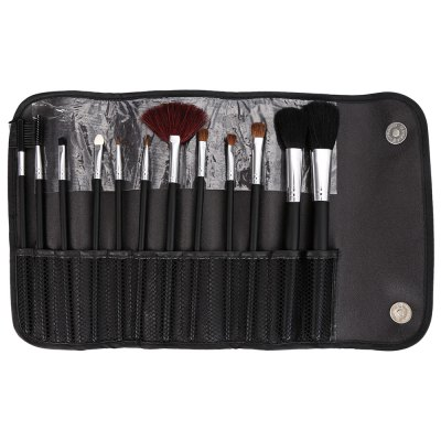 Makeup Brushes with Black Storage Bag