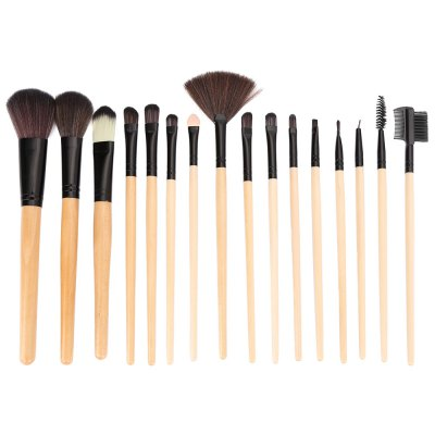 16pcs Makeup Powder Brushes with Black Storage BagMakeup Brushes &amp; Tools<br>16pcs Makeup Powder Brushes with Black Storage Bag<br><br>Handle Material: Wood<br>Brush Material: Nylon<br>Used With: Blusher,Concealer,Eye Shadow,Foundation,Powder,Sets / Kits<br>Product weight: 0.241 kg<br>Package weight: 0.254 kg<br>Package size (L x W x H): 23.00 x 13.00 x 3.00 cm / 9.06 x 5.12 x 1.18 inches<br>Package Content: 16 x Makeup Brush, 1 x Makeup Brush Storage Bag