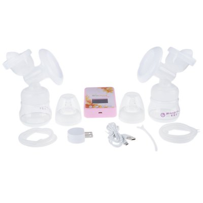 ZIMEITU Double Intelligent Electric BPA Free Breast PumpFeeding<br>ZIMEITU Double Intelligent Electric BPA Free Breast Pump<br><br>Item Type: Breast Pump<br>Material: LSR,PP<br>Powered source: Electric<br>Features: Backflow Protection,Electric,Frequency Conversion,Intelligent,Massage<br>Suction (pa): 10 - 45KPA<br>Package weight: 1.015 kg<br>Product weight: 0.560 kg<br>Package size (L x W x H): 35.00 x 27.00 x 9.50 cm / 13.78 x 10.63 x 3.74 inches<br>Package Content: 1 x Principal Machine, 2 x Dust Cover, 2 x Massage Cushion, 2 x Breast Pump Body, 2 x Silicone Diaphragm, 2 x Protecting Cover, 2 x Silicone Pipe, 2 x Duck Mouth Valve, 2 x Milk Bottle, 2 x Nipple, 1