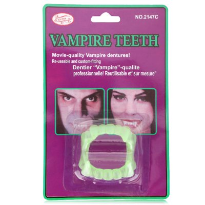 Tricky Toys Horror Luminous Dentures for April Fools Day