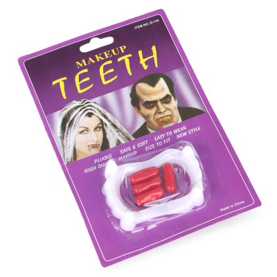 Funny Party Fake Teeth with Blood Pills for Halloween