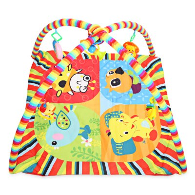 Baby Play Mat Soft Cartoon Animal Gym Fitness Blanket