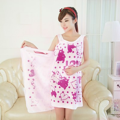 MINGYOU Chic Super Absorbent Bath Towel Sleeping Skirt for Lady