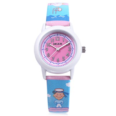KEZZI K - 1435 Children Quartz WatchKids Watches<br>KEZZI K - 1435 Children Quartz Watch<br><br>Band Length: 7.09 inch<br>Band Material Type: Leather<br>Band Width: 14mm<br>Case material: Alloy<br>Case Shape: Round<br>Clasp type: Pin Buckle<br>Dial Diameter: 1.14 inch<br>Dial Display: Analog<br>Dial Window Material Type: Glass<br>Gender: Children<br>Movement: Quartz<br>Style: Simple<br>Product weight: 0.021 kg<br>Package weight: 0.042 kg<br>Product Size(L x W x H): 21.00 x 3.00 x 0.70 cm / 8.27 x 1.18 x 0.28 inches<br>Package Size(L x W x H): 22.00 x 4.00 x 1.70 cm / 8.66 x 1.57 x 0.67 inches<br>Package Contents: 1 x KEZZI K - 1435 Kids Quartz Watch
