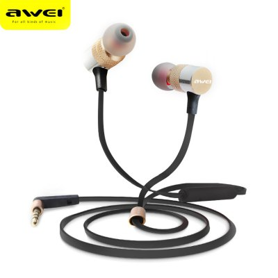 AWEI ES - 20TY 3.5MM Plug HiFi Music Earbud Headphones