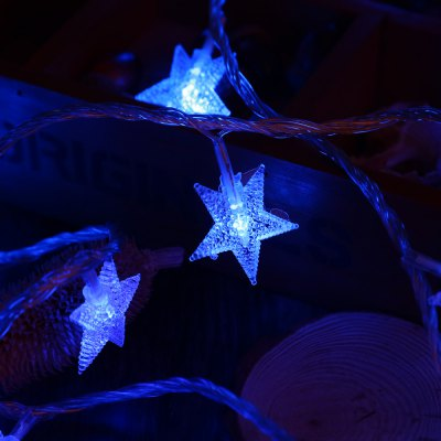10M 100 LEDs 6W 8 Modes Star String Fairy LightLED Strips<br>10M 100 LEDs 6W 8 Modes Star String Fairy Light<br><br>Emitting color: Blue,Cold White,Pink,Warm White<br>Plug Type: EU plug<br>Power Source: AC<br>Shape: Star<br>Wattage: 6W<br>Product weight: 0.422 kg<br>Package weight: 0.448 kg<br>Package Size(L x W x H): 21.00 x 13.50 x 11.00 cm / 8.27 x 5.31 x 4.33 inches<br>Package Contents: 1 x 10M 100 LEDs 6W 8 Modes Star String Fairy Light