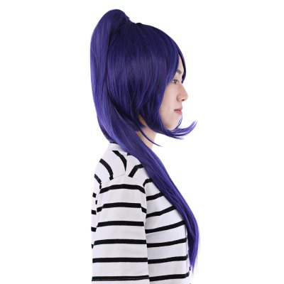 50CM Long Full Wigs with Ponytail Synthetic Hair Anime Cosplay Party for Sunshine Aqours Matsuura Kanan Figure