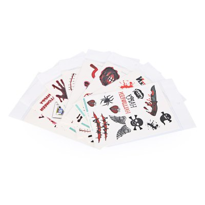 Diverse Waterproof Temporary Bloody Tattoo Stickers