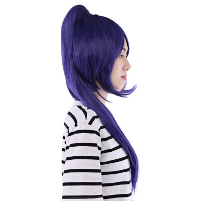 64CM Long Full Wigs with Ponytail Synthetic Hair Anime Cosplay