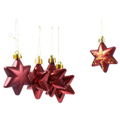 5pcs Christmas Decorating Five-pointed Star Ornaments