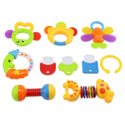 Baby Hand Shake Bell Ring Rattles Toy Set