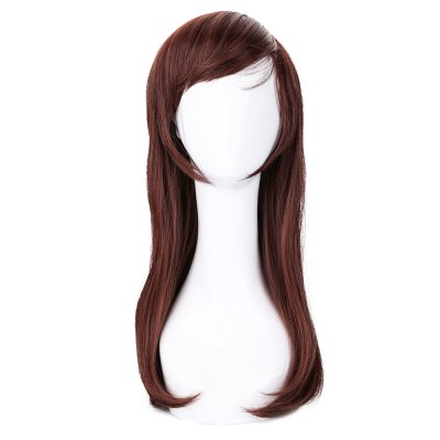 Long Red Brown Pear Volume Wigs Cosplay for Tracer D Va Figure