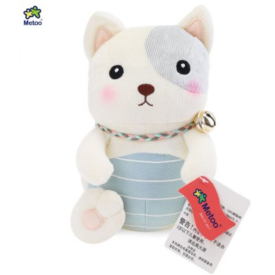 Metoo Jingle Cat Dog Plush Doll Toy for Baby